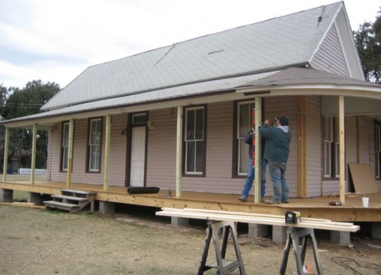 Rehabilitation Begins on Historic Houses at Lambert Branch Park